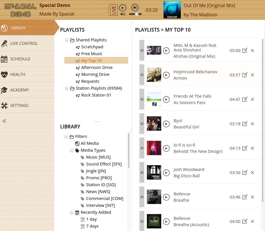 radio automation software sam_cloud playlist